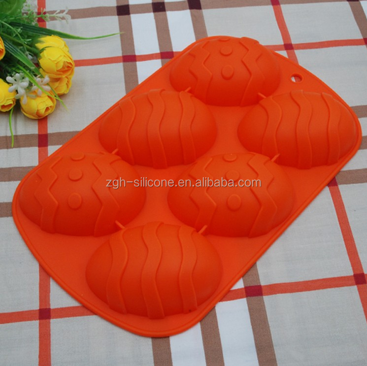 High quality Halloween Egg shape cool children bakeware silicone cake mould