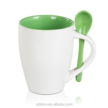 with spoon mug bulk/colorful ceramic glazed coffee mugs with spoon/cheap bulk ceramic mugs
