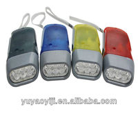 Hand Pressing Flashlight 3LED YJ-003 Promotional Gifts