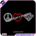 wholesale korean hotfix rhinestones Peace love diamond iron