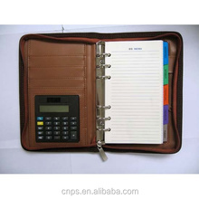 Hot sale diary with calculator and pen in alibaba