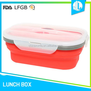 Cheap custom new design silicone lunch box with lock