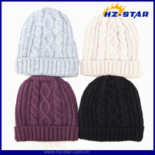 HZM-13303 Thinsulate 3M plain hot sell double layer polar lining warm 2013 fashion knit hat for man