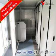 portable toilet container for construction sites