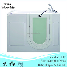 Foshan factory newest design acrylic bathtub walk in