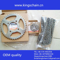 motorcycle parts for brazil galvanized CG150 428H motorcycle chain sprocket sets