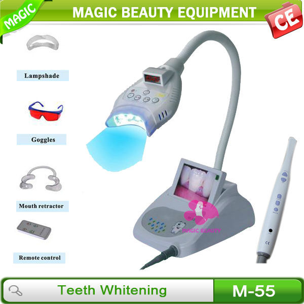 M-55 Blue led light teeth whitening/led teeth whitening lamp / teeth whitening home kit