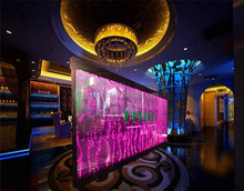 Customized indoor decorative water bubble panel acrylic partition wall