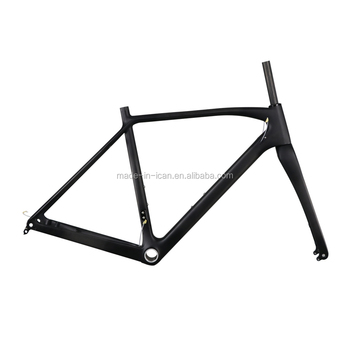2017New Disc Brake Carbon Cyclocross Frame with thru axle 142mm Carbon CX Frame