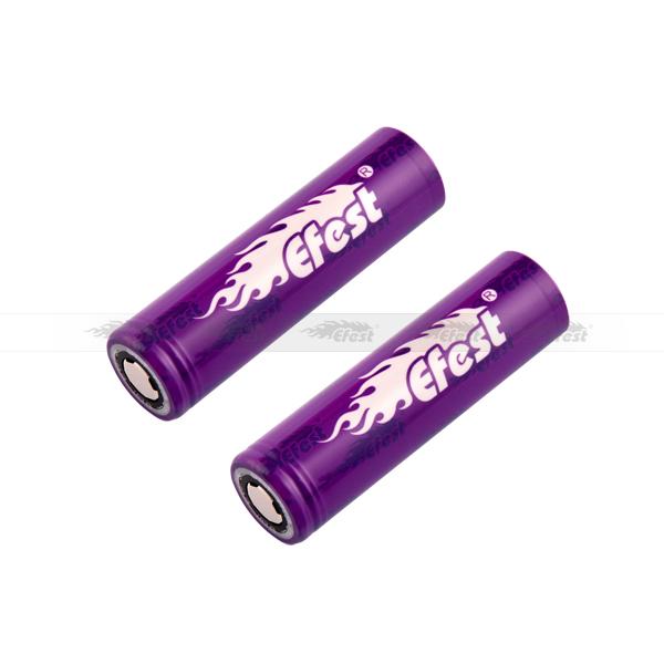 100% original 18650 2500 mah IMR efest imr 18650 efest 35a bateria recarregável de iões de li bateria efest 18650 35a 2500 mah bateria