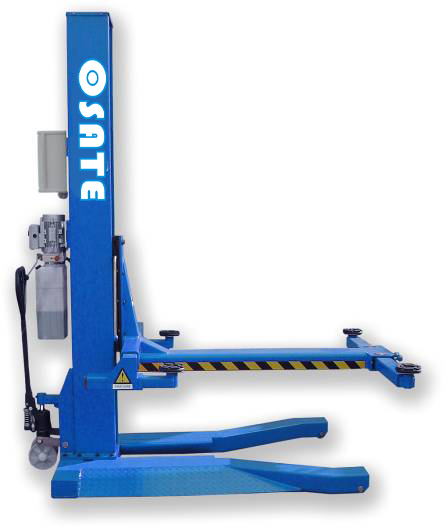 One cylinder Hydraulic lift type and single post design mobile single post lift CE