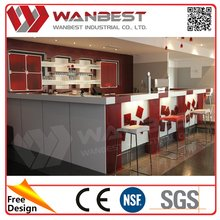decorative portable led solid surface bar counter