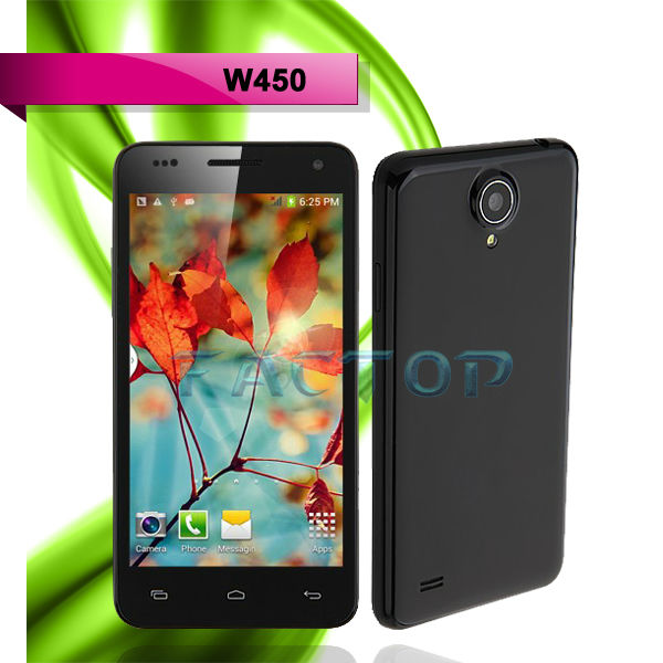 Direct Factory Support 4.5 inch W450 MTK6582 Android Cell Phone
