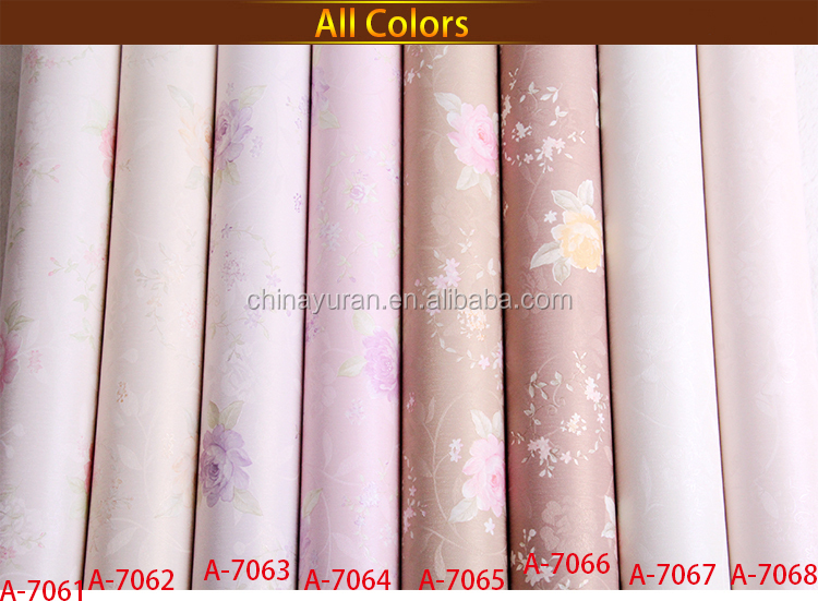 beautiful flower vinyl wallpaper