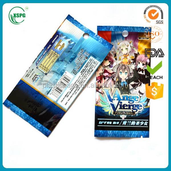High qualityCustom Plastic Sleeves for Game Card Packing/ Clear Plastic Sleeves for Game Card Packaging/