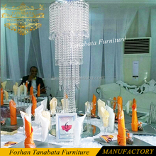 Hanging crystal beads wedding flower stand centerpieces for party decoration