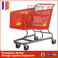 Handle Zinc Plated Personal Small Supermarket Food Shopping Plastic Trolley Trolley