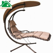 outdoor pool side fabric sling chair sun lounger/aluminium beach bed/beach sun bed with adjustable back