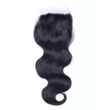 wholesale top grade 100% unprocessed brailian hair closure piece