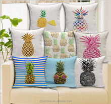 fashion new design comfortable printed pineapple shape pillow