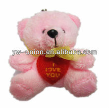 Little Love Pink Bear Toy for Key Pendant Hanging