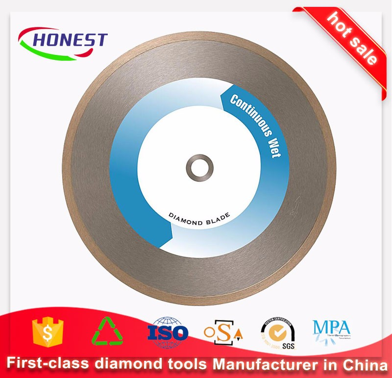 "4.5"" inch 115mm Sintered Continuous Rim Diamond Wet Cutting tiles saw blade"