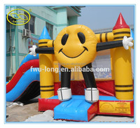 Hot-selling PVC 0.55mm Colorful Commercial Inflatable Combo Bounce House
