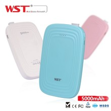 WST 16 years Shenzhen manufacturer WP925 slim power bank 5000