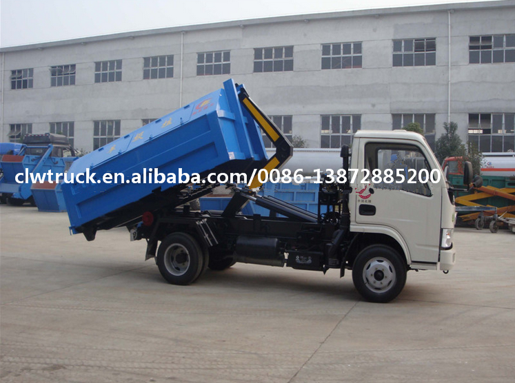 2017 Special offer Dongfeng Duolika 6CBM hook lift garbage truck for sale in Angola