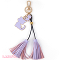 New Arrival Lovely Cat Key Chain With Leather Tassel Hand Bag Accessories For Promotion Gift
