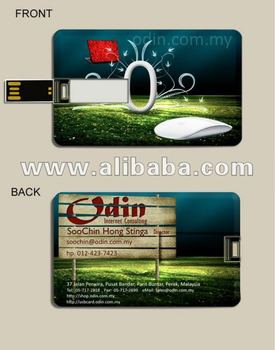 Credit Card USB Pen Drive - Cenderamata Annual Dinner With Logo Printing
