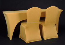 high quality gold spandex chair covers
