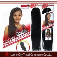 "Synthetic Braiding Hair Senegalese Braids 18"" Folded Kinky Twist Hair Crochet Braid Hair Extensions"