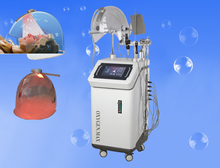 9 in 1 rf led light ultrtasonic oxygen infusion & spray facial cleaning machine