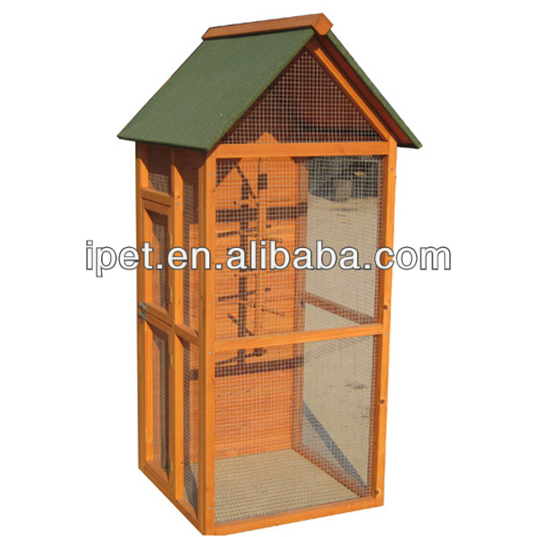 Wooden aviary bird cage with run AV003