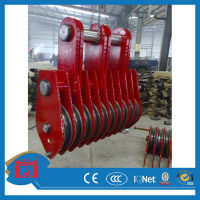 Good quality 5 wheels 50ton cable pulley block