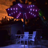 2.7M Garden Solar Umbrella LED Light