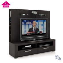 Modern Media Wooden TV Cabinet with Showcase Design in Living Room