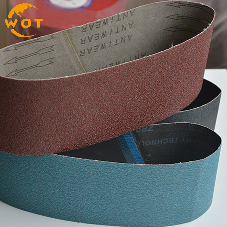 "4""X24"" Abrasive Aluminum Oxide Polishing floor diamond abrasive sanding belts"