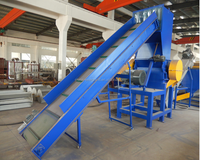 Crushing Washing PE Recycling Machine , PET Plastic Bottle Recycling Machines