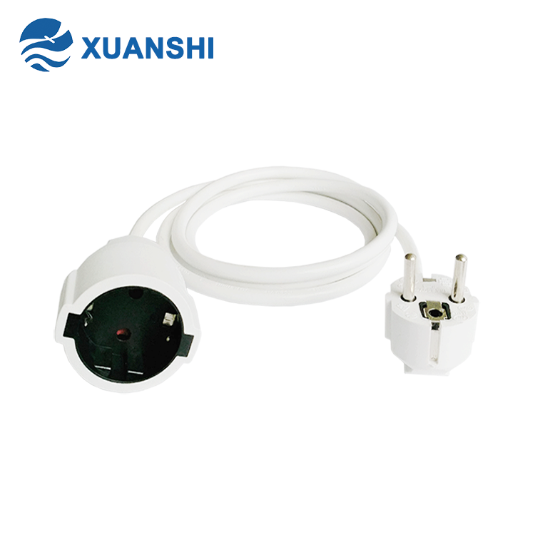 XUANSHI european CE GS KMEA approved schuko socket power extension lead