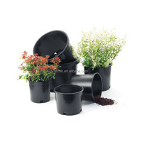 Big 5 gallon Black Plastic Nursery Plant Container Garden Flower Pot