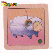 2016 wholesale baby wooden sheep puzzle, educational kids wooden sheep puzzle, fashion children wooden sheep puzzle W14C170