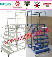 Supermarket handrail step ladders