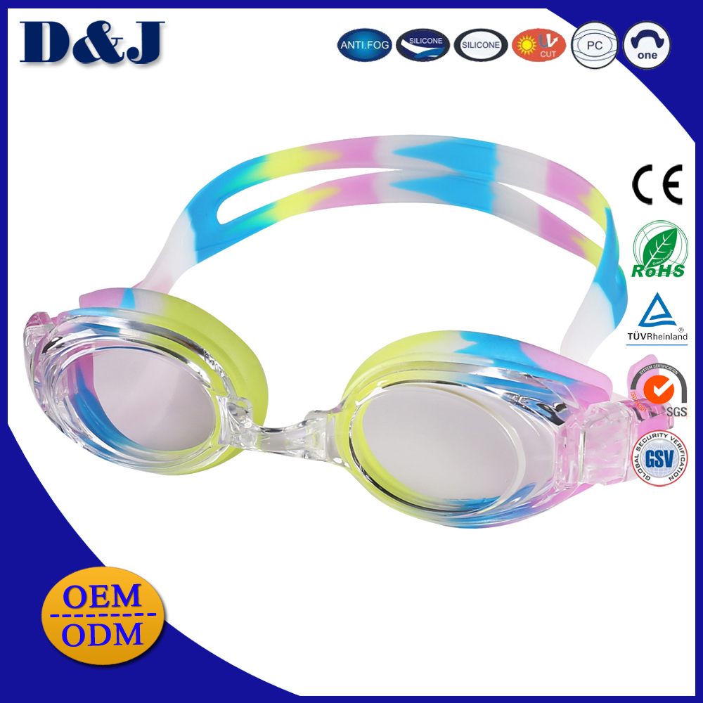 Optical PC Anti-fog Silicone Swimming Goggles For Adult