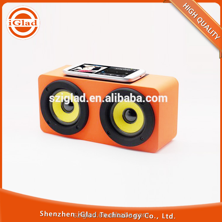High quality cheap ABS rubber finish induction wireless bluetooth speaker