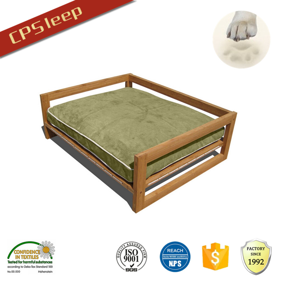Colorful Soft Classic Design Custom wooden pet bed for dogs