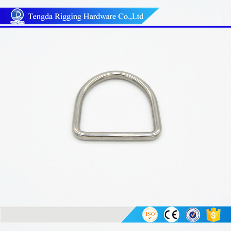 China manufacturer D ring stainless steel welded D ring