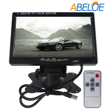 7 inch car tft lcd roof mounted dvd player headrest monitor
