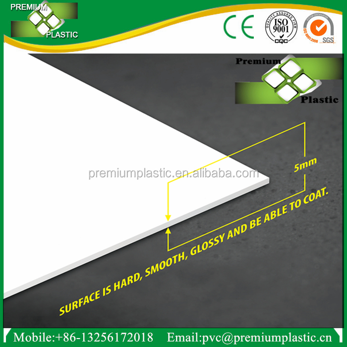 5mm 8mm pvc sheet for bathroom door foam plastic board white 4x8 size
